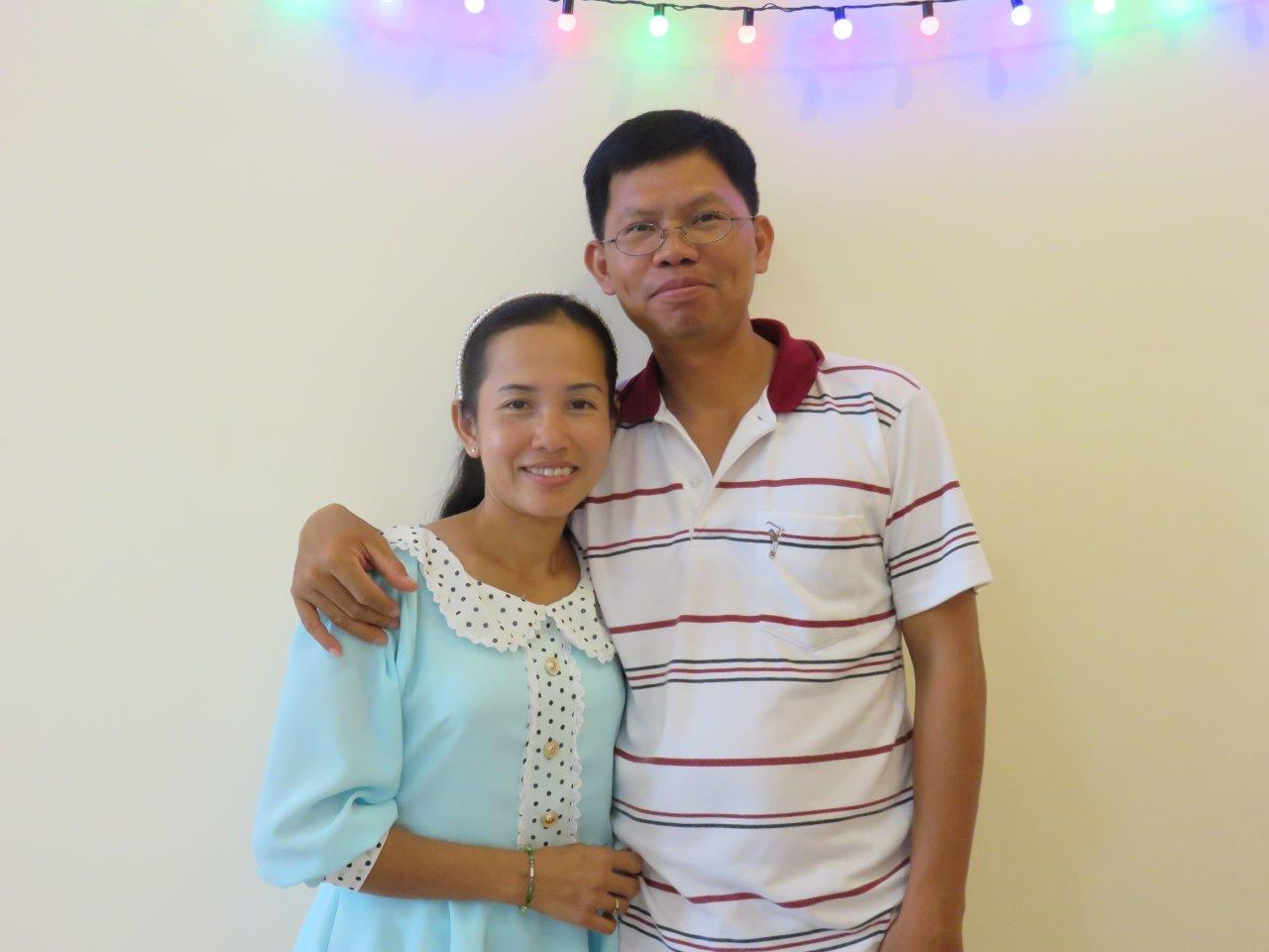 Pastor Thong Leang and his wife, Sophy